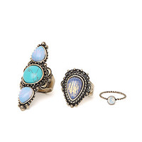 Anastasia Ashley Mixed Geo Ring Set - Womens Jewelry - Multi - One