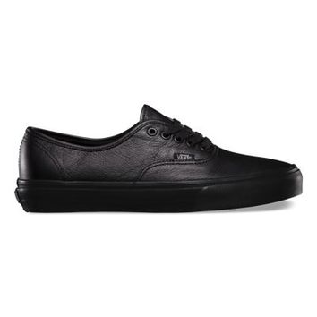 Vans Italian Leather Authentic blackblack