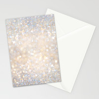Glimmer of Light II (Ombré Glitter Abstract*) Stationery Cards by soaring anchor designs ⚓ | Society6