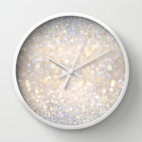 Glimmer of Light II (Ombré Glitter Abstract*) Wall Clock by soaring anchor designs ⚓ | Society6