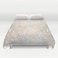 Glimmer of Light II (Ombré Glitter Abstract*) Duvet Cover by soaring anchor designs ⚓ | Society6
