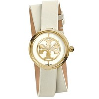Tory Burch Ivory Leather/gold-tone, 28 Mm