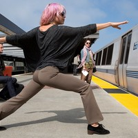 Taupe Dress Pant Yoga Pants (Boot-Flare) | Betabrand
