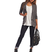 Classic Knit Boyfriend Blazer | Wet Seal