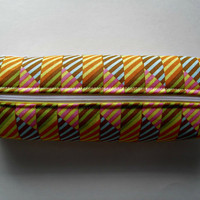 Fabric Boxed Pencil, Craft or Cosmetics Case, in Pazazz