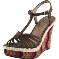 Fergalicious Women`s Qutie Wedge Sandal,Brown,8 M US