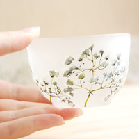 Japanese inspired small cup Baby's Breath by yevgenia on Etsy