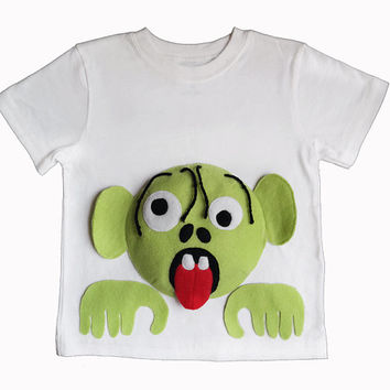 Kids Halloween shirt/Zombie Shirt/Halloween Shirt/Zombie Clothing/Zombie Clothes/Boys Halloween Shirt/Plants vs. Zombie Shirt/Unique Gifts