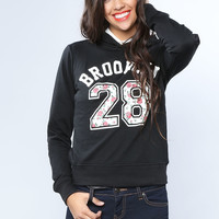 Brooklyn Graphic Hodded Top