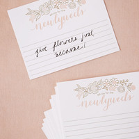 Gold Foil Advice Cards (10)