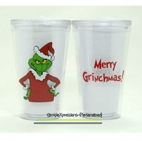 The Grinch Personalized 16oz tumbler from SimpleXpressions-Personalized!