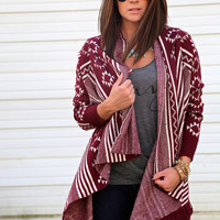 Burgundy Bliss Cardi - ONE-SIZE