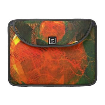 Orange Gemstone & Grunge Green Laptop sleeve