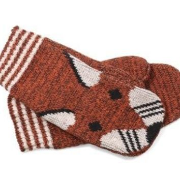 Fox Mittens - Matching Scarf Available