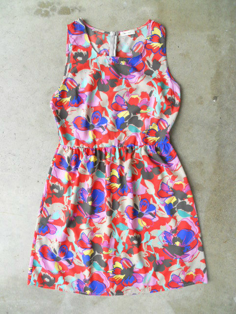 Blooming Abstract Dress [3072] - $34.00 : Vintage Inspired Clothing & Affordable Summer Dresses, deloom | Modern. Vintage. Crafted.