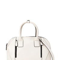 FOREVER 21 Zippered Convertible Satchel Taupe One