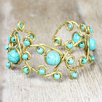 Handmade Jewelry New York | Jewelry NYC | KT Collection New York » Brass and Turquoise Bracelet