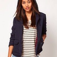 River Island Hooded Quilted Jacket at asos.com