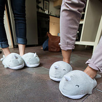 Narwhal USB Heated Plush Slippers