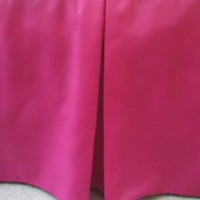 Hot Pink CribSkirt Tailored Dust Ruffle for Crib 15 inches long