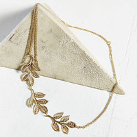 Leaves Goddess Chain Headwrap- Gold One