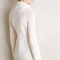 Waffled Cashmere Cowlneck by Moth