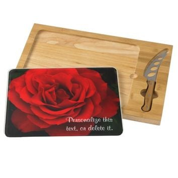 Fire Red Rose Kitchen Cheese Board