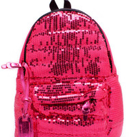 metallic-sequin-backpack BLACK FUCHSIA GOLD ROYAL SILVER - GoJane.com