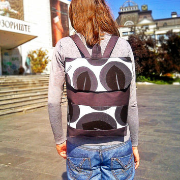 Chokolate Backpack - Rucksack - Canvas backpack - Laptop backpack - gift Christmas