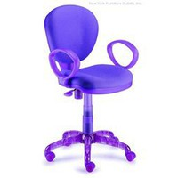 I-Chair Office Chair - Purple, Purple Fabric Office Chair, Modern Office Chairs: Nyfurnitureoutlets.com
