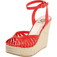 Yellow Box Women`s Elena Espadrille,Coral,6.5 M US