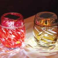 Kaleidoscope Glass Solar Votive - Lighting &amp; Candlelight - Home &amp; Garden - NapaStyle