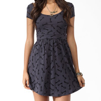 Ditsy Key Print Dress