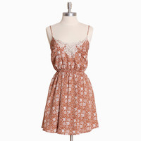 sweeping landslide brown floral dress - $39.99 : ShopRuche.com, Vintage Inspired Clothing, Affordable Clothes, Eco friendly Fashion