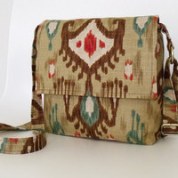 Messenger Cross Body Bag Purse Myrah in IKAT