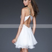 Bridal Party Dresses - Empire One Shoulder Ruffles Sleeveless Short / Mini Chiffon Bridesmaid / Cocktail Dresses / Homecoming Dresses @adress21 - Bridesmaid Dresses - Wedding Party - Wedding Apparel - Affordable Wedding Dresses Manufacturer
