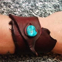 Redwood Leather Wrist Cuff
