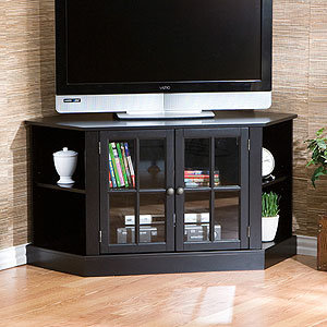 Corner Media Stand, Black