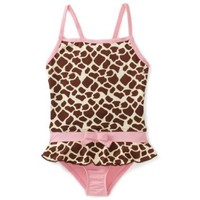 Pink Platinum Girls 2-6X Printed Giraffe Swimsuit