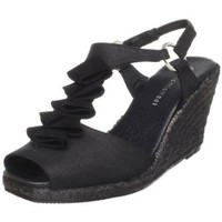 Eric Michael Women`s Havana Open-Toe Espadrille,Black,42 EU/11 M US