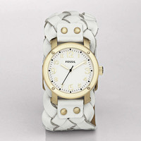 FOSSIL Watch Styles Leather Watches:Women Imogene Leather Watch - White JR1291
