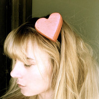 Red heart headband woman teen unique hair accessories