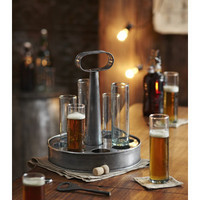 Kranz German Style Metal Beer Tasting Tray