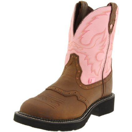 Justin Boots Women`s Gypsy-L9901 Boot,Brown/Pink,9 B US