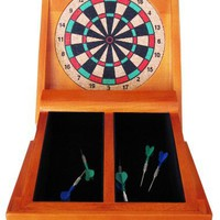 Adam 8&amp;quot; Folding Desktop Dart Board in Natural Wood