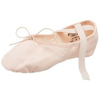Capezio Women`s Canvas Juliet Ballet Shoe,Light Ballet Pink,12 W US