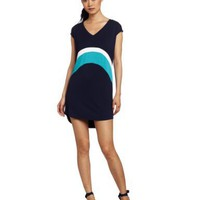 Three Dots Women`s Colorblock Tunic dress