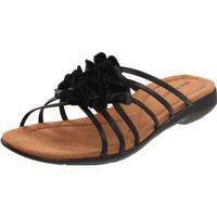 Hush Puppies Women`s Delite Slide_FL Sandal,Black,9 M US