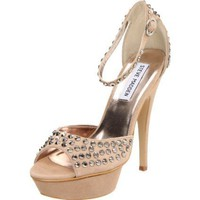 Steve Madden Women`s Stonned Pump,Blush,7 M US