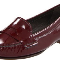 Cole Haan Women`s Sloane Penny Loafer,Oxblood Patent,9 B US